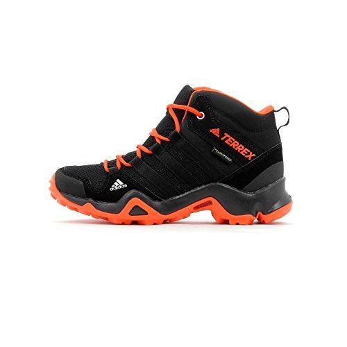adidas Unisex-Kinder Terrex Ax2R Mid Cp K Schuhe, Schwarz (Negbas/Negbas/Energi), 35 EU