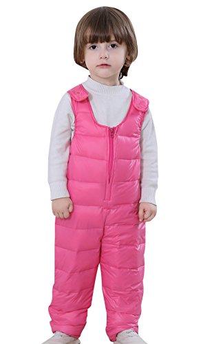 Dongzhiyue Kinder Daunenlatzhose Warm Babyhose Daunenhose Winterhose Unisex Mädchen Jungen Overall Baby Winddicht Schneehose