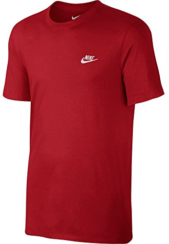 Nike Herren Club Embroidered Futura T-Shirt Rot (sport red / sport red / white)