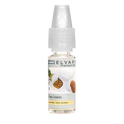 Elvapo Premium Plus E-LIQUIDS mit extra starkem Geschmack Pina Colada für E-Zigaretten und E-Shishas 0.0 mg (nikotinfrei), 10 ml