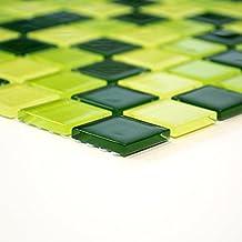 azulejos mosaico mosaico azulejos baño cocina Crystal cuadrado verde Mix cenefa nuevo # 436