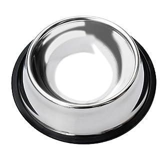 Homgaty Non-Slip Stainless Steel Food Water Bowl Feeder For Pet Dog Cat 12