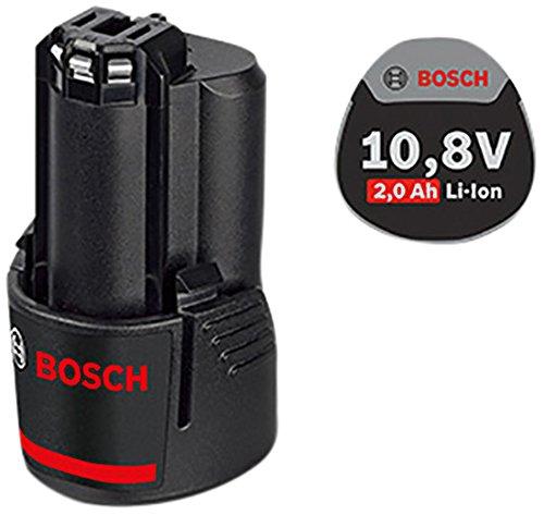 Bosch Professional 1600Z0002X GBA Batteria, 10.8 V, 2.0 Ah, O-B, 175 g