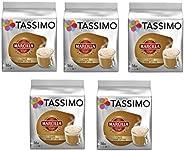 TASSIMO Marcilla Café con Leche - 5 paquetes de 16 cápsulas: Total 80 unidades