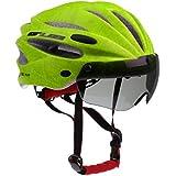 Segolike Professional Stable Road/Mountain Bike Cycling Helmrt MTB CyclingHelmets with Air Attack Eye Shield Helmet Visor for Mens Womens