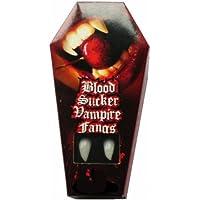 Zoelibat colmillos de vampiro en caja de ataúd