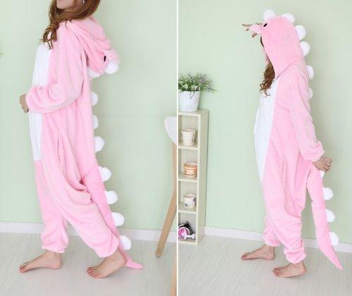 Imagen de kigurumi diseño de grafiti con mujer diseño de piel de jirafa a xl pikachu juego de unisex animal panda mamelucos para pijama disfraz infantil cosplay, dinosaurio rosa, mediano alternativa
