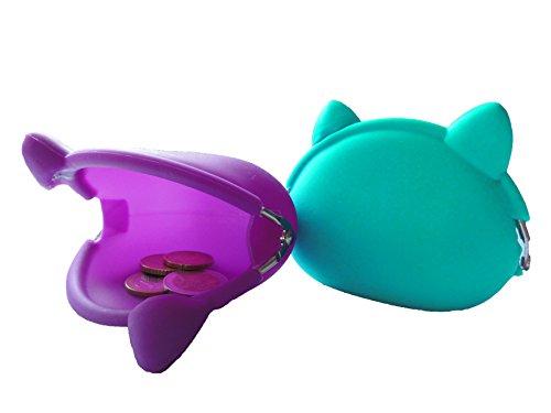 Porte-monnaie bourse cosmétique sac sacs silicone Friandises chat Krimskrams enfants Plage Trend jaune 10 cm x 8,5 cm x 4 cm