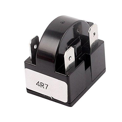 sourcingmap® Schwarz Plastik Gehäuse 4,7 Ohm 4 Klemmen PTC Anlasser Relais für Kühlschrank (Klimaanlage Gehäuse)