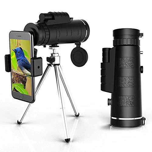 Telescopio monocular DF5 Monocular de Alta Potencia Monoculares Impermeables con Clip de teléfono y trípode para teléfono Celular para observación de Aves