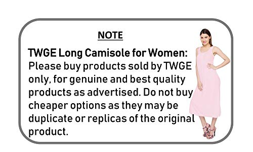 TWGE Cotton Full Length Camisole for Women - Long Innerwear Petticoat - Plus Size Nighty - Kurti Slip - Suit Slip - Pack of 1 Lemon