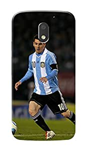 Motorola Moto G4 Play Black Hard Printed Case Cover by HACHI - Messi Football Fans design