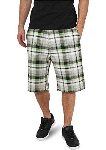 Urban Classics Big Checked Shorts wht/blk/lg