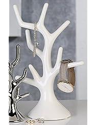 Schmuckbaum Diamonds Keramik silber Höhe 26 cm, Aufbewahrung, Schmuckständer