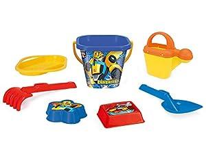 Wader 76342 Transformers - Juego de Cubo y colador (7 Piezas, Incluye Pala, rastrillo y 2 moldes de Arena), Multicolor