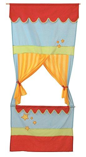roba Tür Kasperletheater, platzsparendes Kinder Puppentheater, Kaspertheater zum Aufhängen mit Stoffbespannung