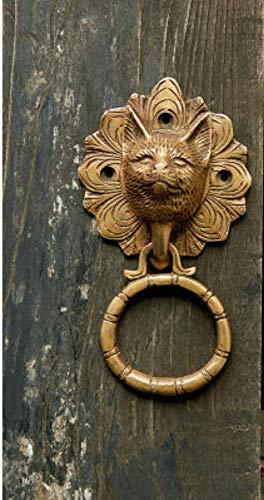 ALILEO Handgefertigte Kupfer Persönlichkeit Türklopfer Südostasien Tier Tür Zug Ring Ring Holz Türgriff EIN montiert