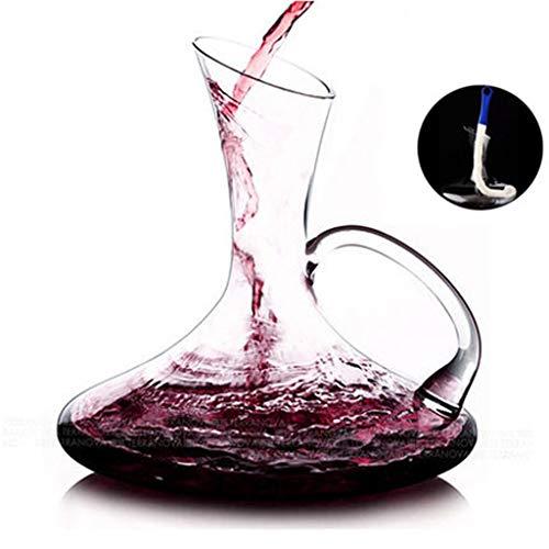 Wine Aerator Pourer Carafe à Vin Rouge - Verre En Cristal Sans Plomb Soufflé à La Main à 100% - Pichet Carafe à Vin Rouge Robuste - Idéal Pour La Restauration, Les Réceptions, Les Barbecues, Les Pique