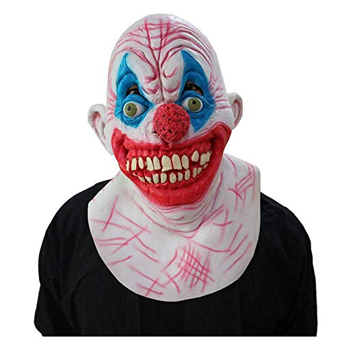 YaPin Latex Clown Horror Maske Halloween Kürbis Kopf Horror Maske Kopfbedeckung Tricky Scary Ghost Festival Zombie Requisiten