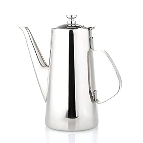 AsentechUK® Stainless Steel Coffee Hot Water Coffee Pot Espresso Coffee