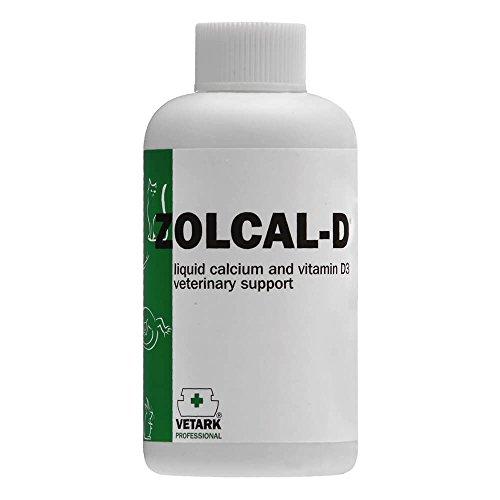 Zolcal D Flüssiges Nahrungsergänzungsmittel mit Kalzium und Vitamin D3, in 2 Größen erhältlich, für alle Vögel und Tiere -