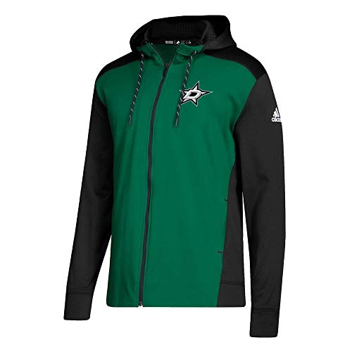 adidas Dallas Stars NHL Full-Zip Hoodie Sweatshirt, M -