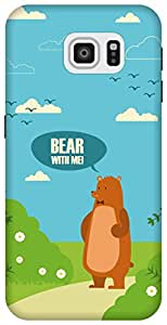 The Racoon Grip printed designer hard back mobile phone case cover for Samsung Galaxy S6. (Bear with)