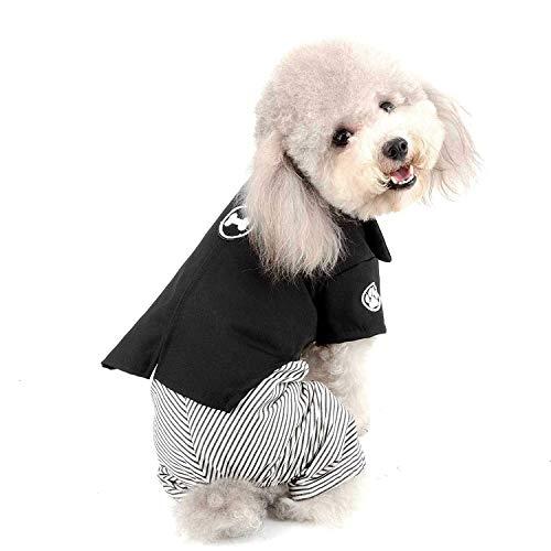 Pet Costumes, Classic Japan Kimono Style, Hunde Kleid Mädchen, Puppy Tuxedo Outfits Jungen, Hochzeit Party Kleidung Kleiner Hund Katze YAWJ (Color : Pants, Size : XS)