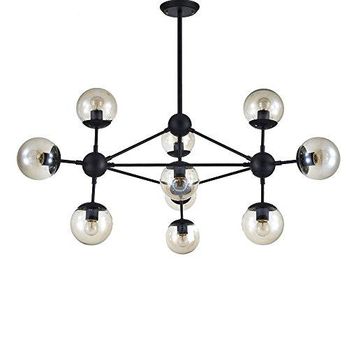 lonfenner American creative largo colgante Art Bola de cristal Lámparas de araña...