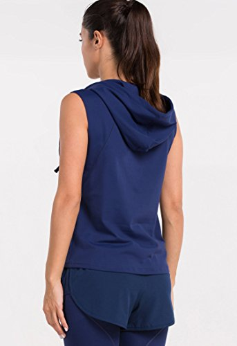 Cody Lundin Tight Hoodie Femme sans manches Chemise Outdoor Outdoor-Yoga Vest blue