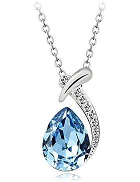 T400 Jewelers Halskette Weißes Gold überzogen mit Wassertropfen Swarovski Elements Crystal Anhänger Halskette...