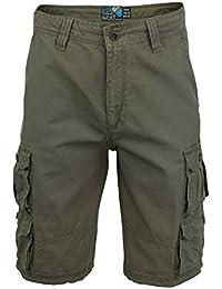 Short Homme Style Cargo 100% Coton Sergé