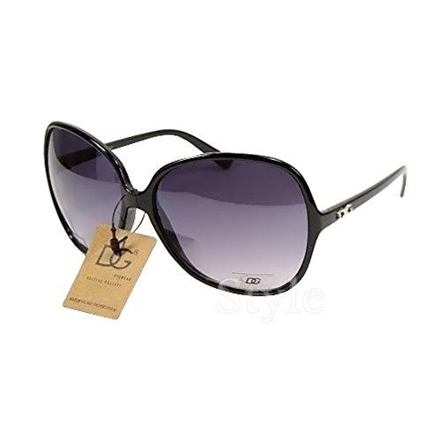 DG Eyewear Sonnenbrillen von DG Studio ® für Frauen Neu Kollektion - UV400 - Schutz - Damen Mode Schwarz Designer Übergröße - Modell: DG Casablanca (Damen-Accessories ) Sonnenbrille
