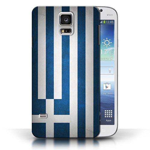 Coque en plastique pour Samsung Galaxy S5/SV Collection Drapeau - Pays de Galles/gallois Grèce/Grec