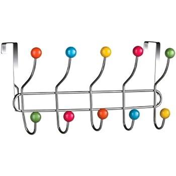 Premier Housewares Porte-manteaux 10 crochets Chromé Multicolore