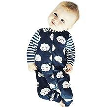 Moonuy Algodón de algodón de cuello redondo recién nacido Niños bebés niñas tímido nubes Rompers Jumpsuit