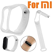 ‏‪Clear Soft Silicone Unique Replacement Wristband Strap for Xiaomi Mi Band 3‬‏