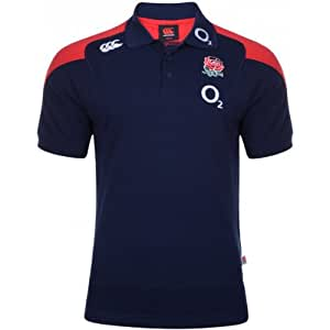 England 2012/13 Players Media Polo Rugby Shirt Navy - size XS