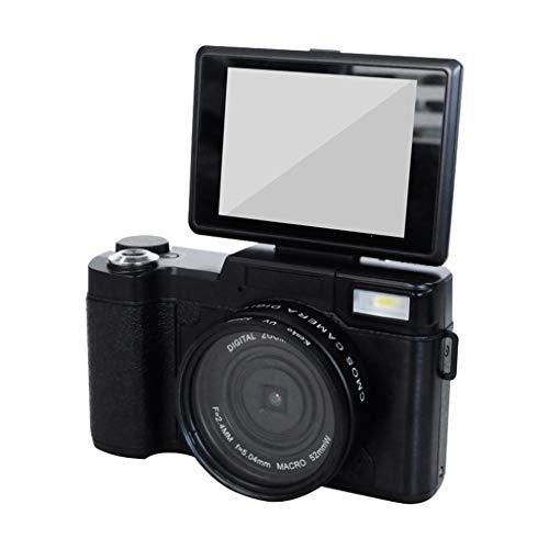 Sixcup® Digital Camera Vlogging Camera 24MP Ultra HD 2.7K Camera WiFi YouTube Camera Video Camera Digital Students Cameras with 3.0 Inch Flip Screen Und Retractrable Flashlight (Schwarz) - 1 Digital Kamera, Card Reader