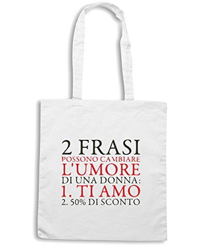 T-Shirtshock - Borsa Shopping CIT0077 EVERYDAY SMART Bianco