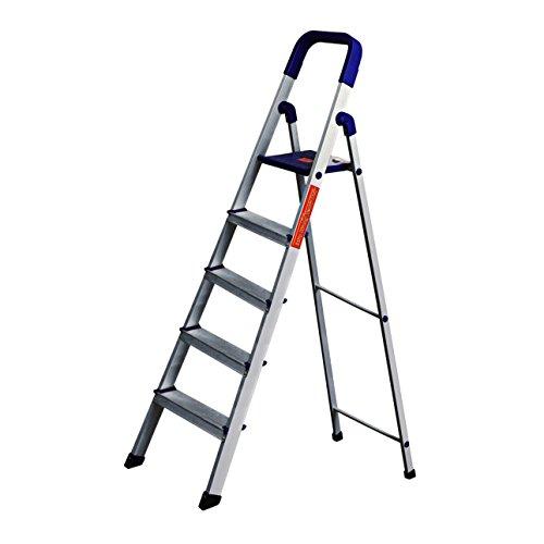 PARASNATH Aluminium Blue Heavy Folding Ladder 5 Step 5.2 Ft