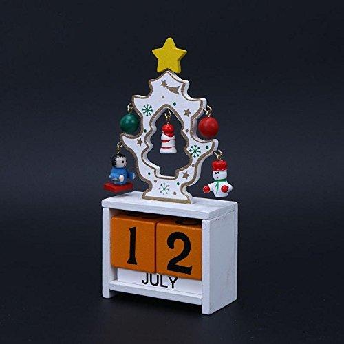 Inovey Natale 2017 Avvento Calendari Decorazioni Natalizie Per La Casa Ornamento Creativo Per Bambini Regali Di Natale-Bianco