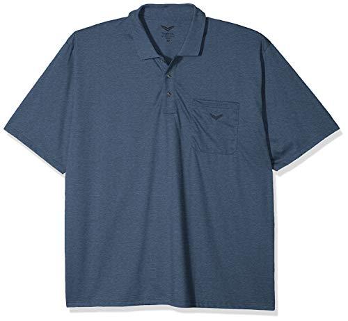 Trigema Herren Single-Jersey 637602 Poloshirt, Blau (Jeans-Melange 643), Large (Herstellergröße: L) (Denim Bestickt Herren)