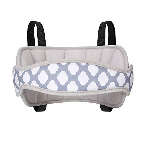 URAQT Bébé Support de Tête de Voiture Réglable, Tête d'oreiller de sécurité bébé, Siège de Sécurité Pour Enfant Doux Confortable Porte-Tête de Voiture Réglable Oreiller de sécurité pour Enfant Gris