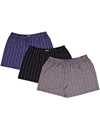 1lycargos Men`s Cotton Obesity Printed Boxer Shorts With 3 Attractive Color With Pack Of 3(Size - XL,2X, 3XL,...