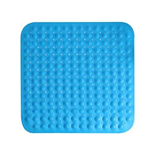 Badezimmer-Matte Square Dusche Bad Home Mat Badezimmer-Matte Badezimmer Saugnapf Massage Grüne Matte (Color : BEIGE, Size : 65 * 65CM) (Square Dusche Mat)