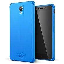 Xiaomi Redmi Note 2 Funda,Lizimandu Protectiva Carcasa de Silicona de gel TPU Transparente, Ultra delgada, Resistente a los arañazos en su parte trasera, Amortigua los golpes Case Cover Para redmi note2(Azul/Blue)