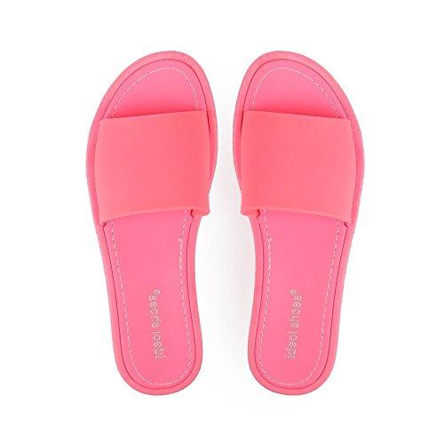 Ideal Shoes Nu-Pieds Classiques Norita Rose
