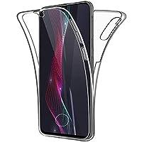 Oihxse Silicona TPU Funda para LG K10/F670/M2 Carcasa Flexibles Ultra-Delgado Transparente Completa 360 Grados Doble Cara Protección Integral Anti-Arañazos Case