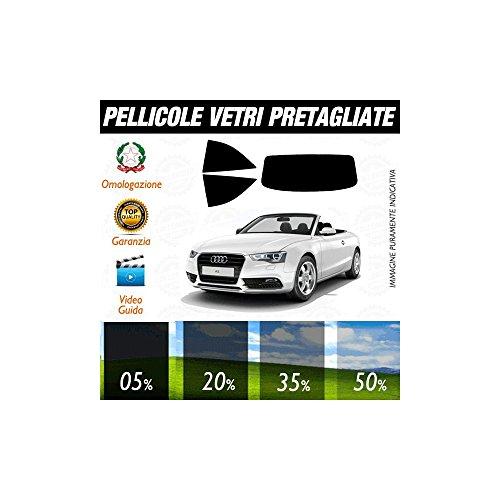 Audi A5 Cabrio 10-15 Pellicole Oscuramento Vetri Auto Pre Tagliate a Misura - 05% - Audi A5 Cabrio